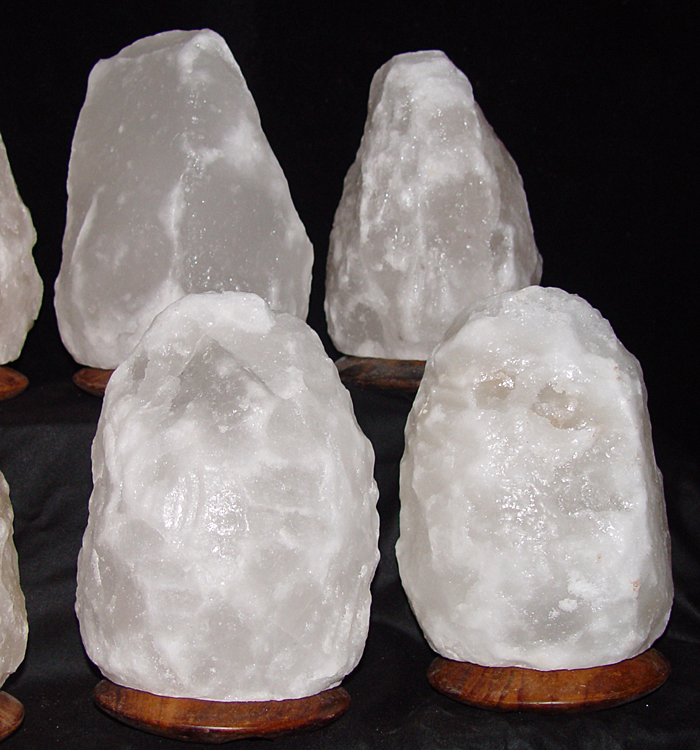 Himalayan Salt Lamps White : White Salt Lamp with an Att/Wooden Base 2-3kg Saltlamps-R-Us