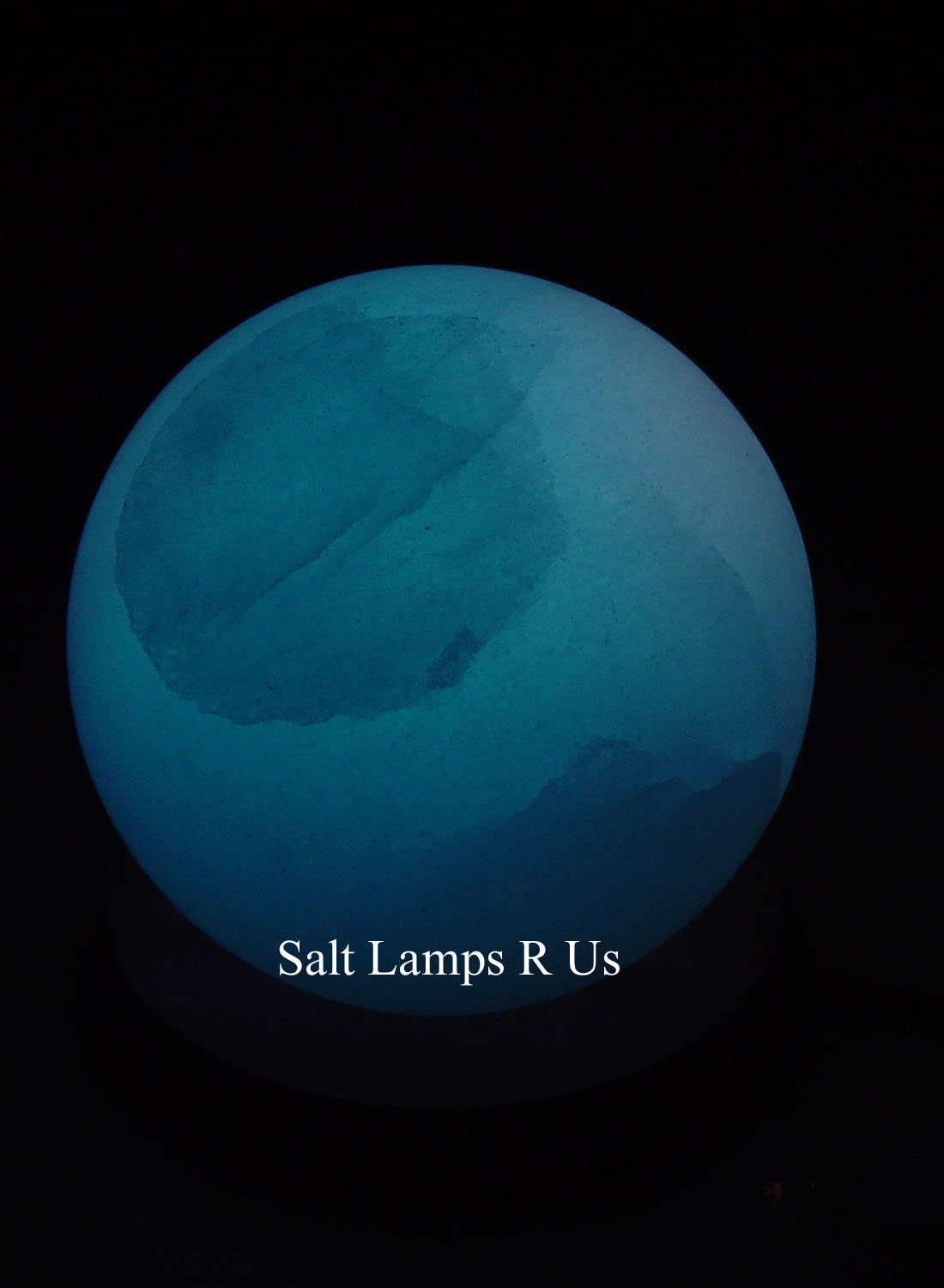 Salt Lamps Blue : Globe Salt Lamp White Himalayan with Wood Base Saltlamps-R-Us