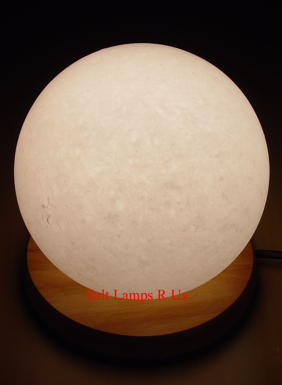 Himalayan Salt Lamps White : Globe Salt Lamp White Himalayan with Wood Base Saltlamps-R-Us