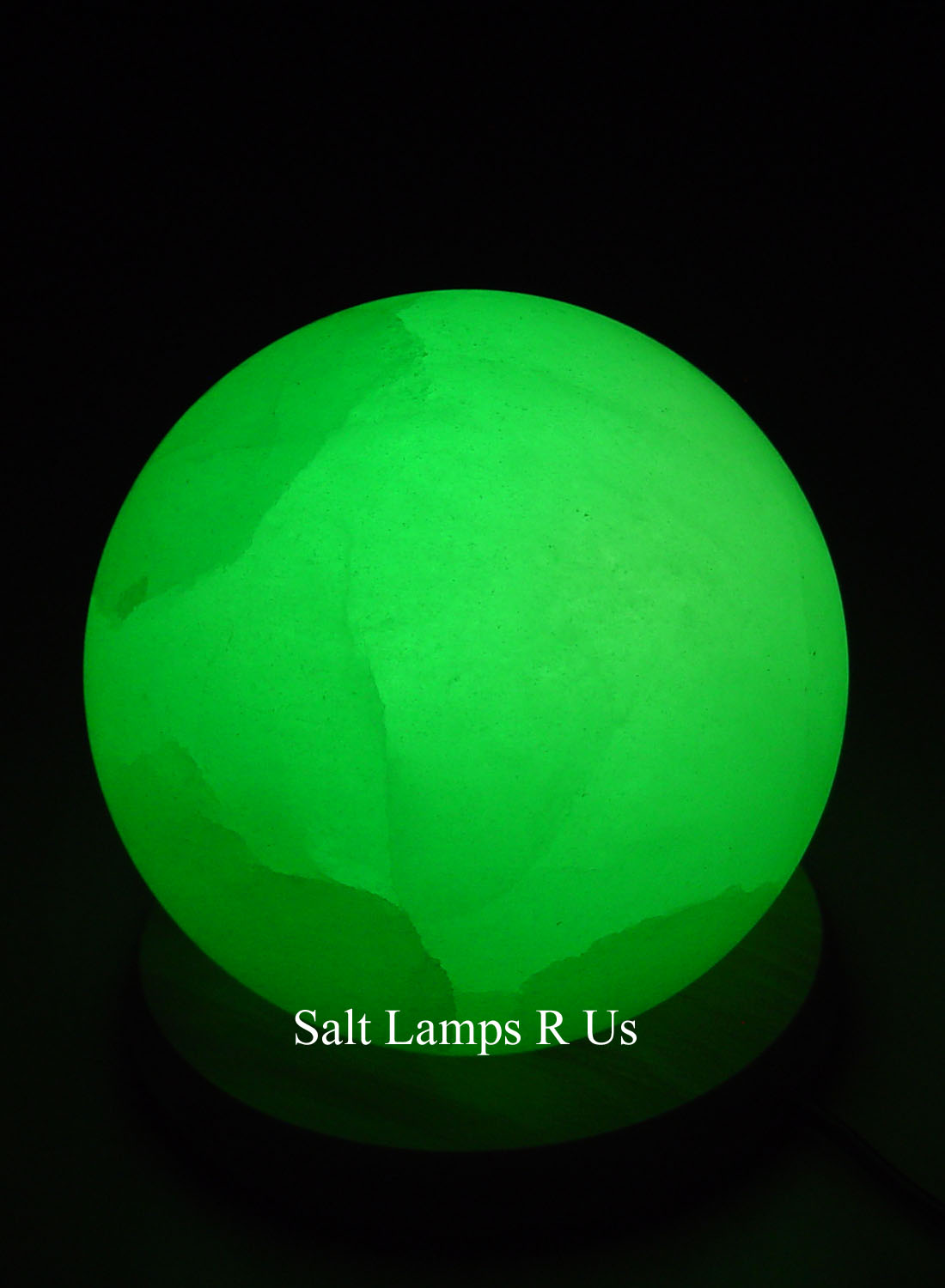 Salt Lamps Are Us : Globe Salt Lamp White Himalayan with Wood Base Saltlamps-R-Us