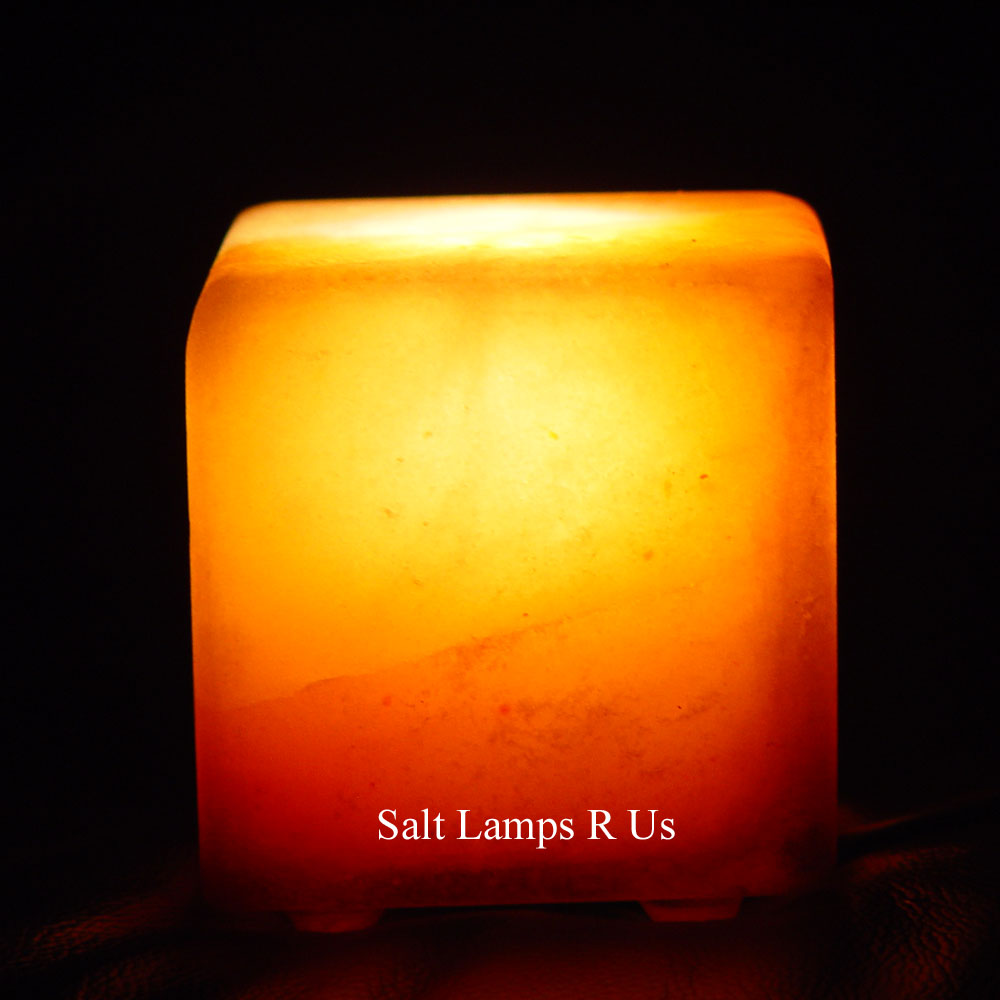 Salt Lamps Are Us : Cube Salt Crystal Lamp Himalayan Att/Wooden Base Saltlamps-R-Us