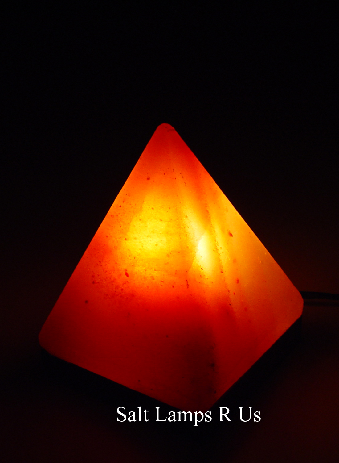 Salt Lamps Are Us : Pyramid Salt Lamp Himalayan Pink Crystal Attached Wood Base Special Offer Saltlamps-R-Us