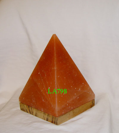Salt Lamps Energy : Pyramid Salt Lamp Himalayan Pink Crystal Attached Wood Base Special Offer Saltlamps-R-Us