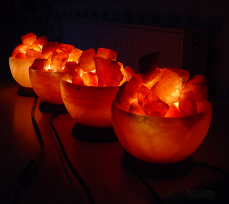Fire Basket Salt Lamps : 4x Fire Bowl Salt Lamp Basket Himalayan Pink Crystal Fire Light Att/Wood Base FBB777 Saltlamps ...