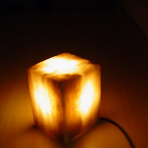 GREY-SQUARE-LAMP-LIGHT-SALT-LAMP-WITH-PLASTIC-FEET