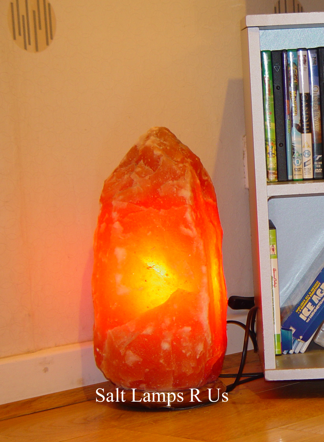 Jumbo Natural Salt Crystal Lamp Attached Wood Base 8-10kg LG694 Saltlamps-R-Us Co.Uk