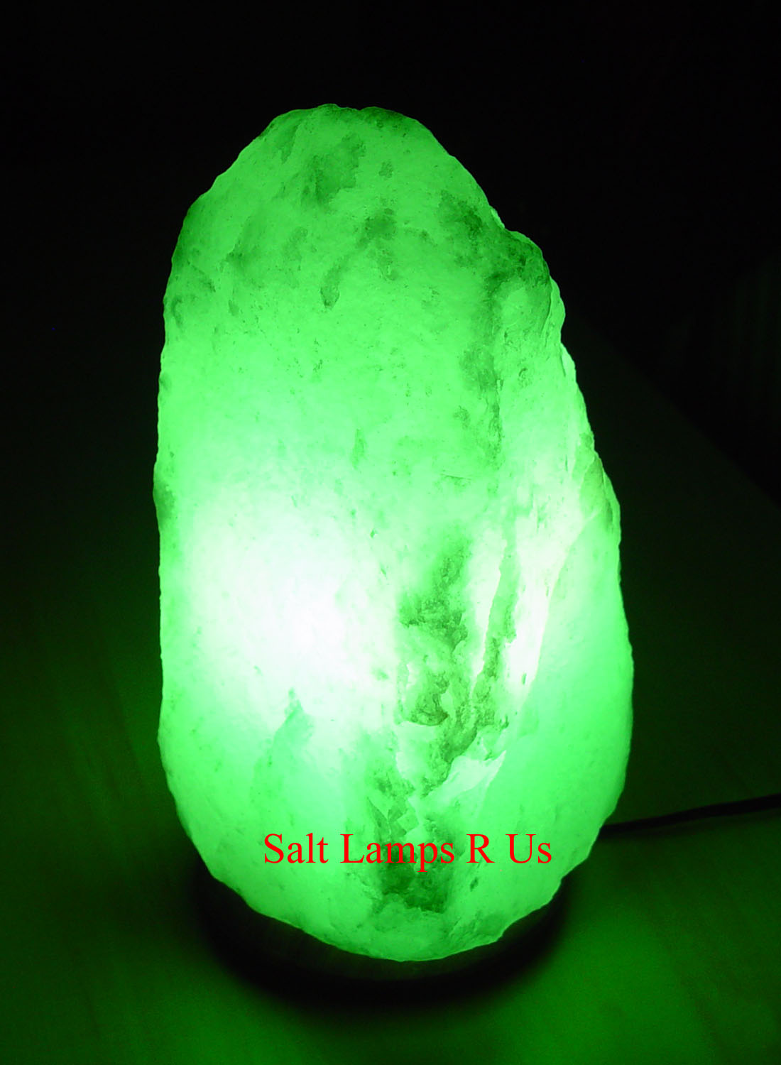 White Salt Lamp Himalayan Large Attached Wood Base 4-6kg LA702 Saltlamps-R-Us Co.Uk