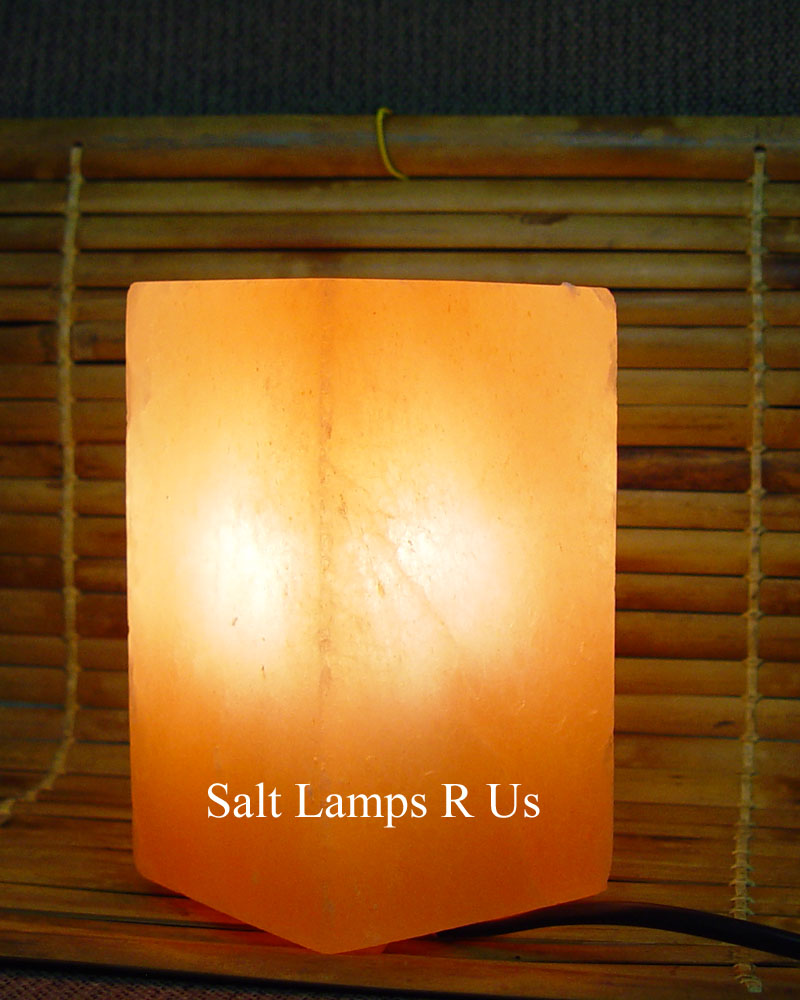 Salt Lamps Are Us : Square Salt Lamp Himalayan Pink Salt with Plastic Feet Saltlamps-R-Us Co.Uk