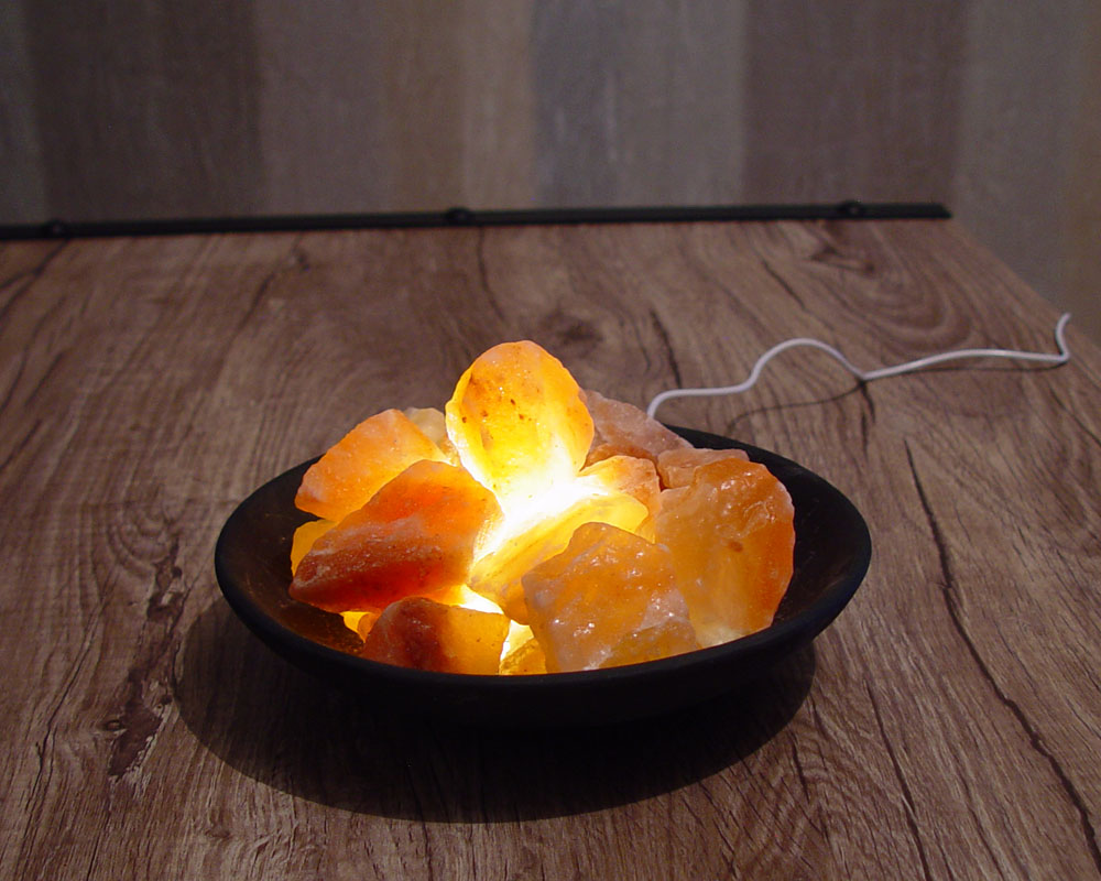 Salt Lamp Safety Warning : Rock Salt Lamp Himalayan Clay Bowl Basket USB Led Light Lamp FL-786-12 Saltlamps-R-Us