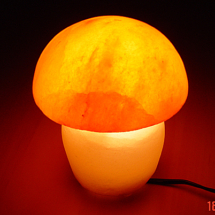 GREY-LIGHT-LAMP-SALT-LAMP-SQUARE-SHAPE-PLASTIC-FEET