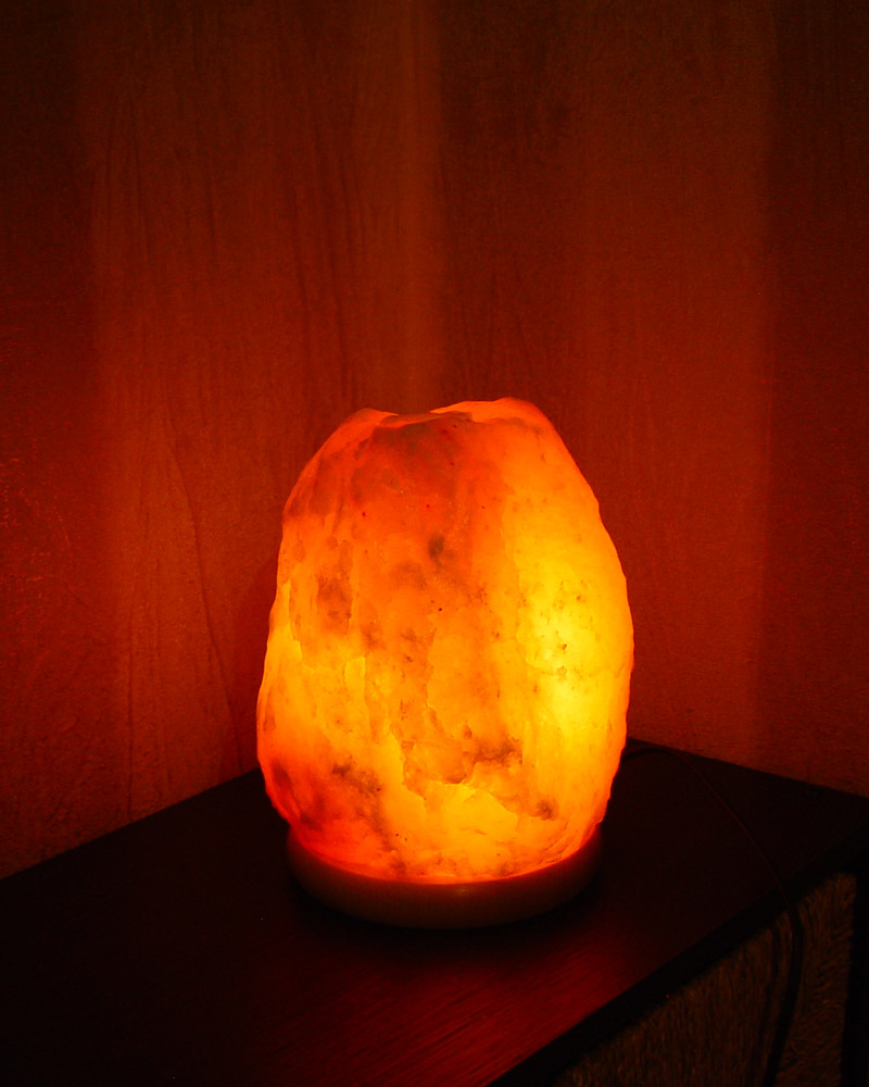 Original Salt Lamps : Salt Lamp with Unique Design Original Style Wood Base Medium 4-6kg LB699 Saltlamps-R-Us Co.Uk